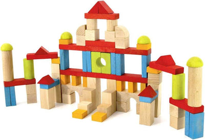 BLOCS DE CONSTRUCTIONS EN BOIS 82 PIECES