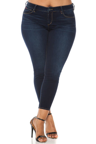 The Ankle Slim Jegging - AMBER
