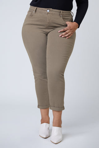 High Rise Boyfriend - Dark Olive