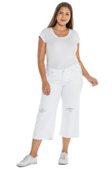 The Mid Rise Wide Leg Crop - OPTICAL WHITE