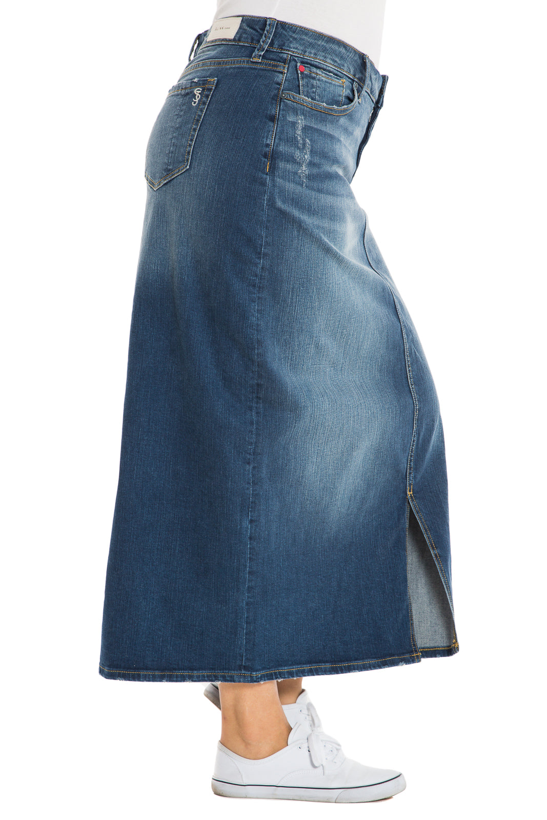 The Long Denim Skirt - RUBY