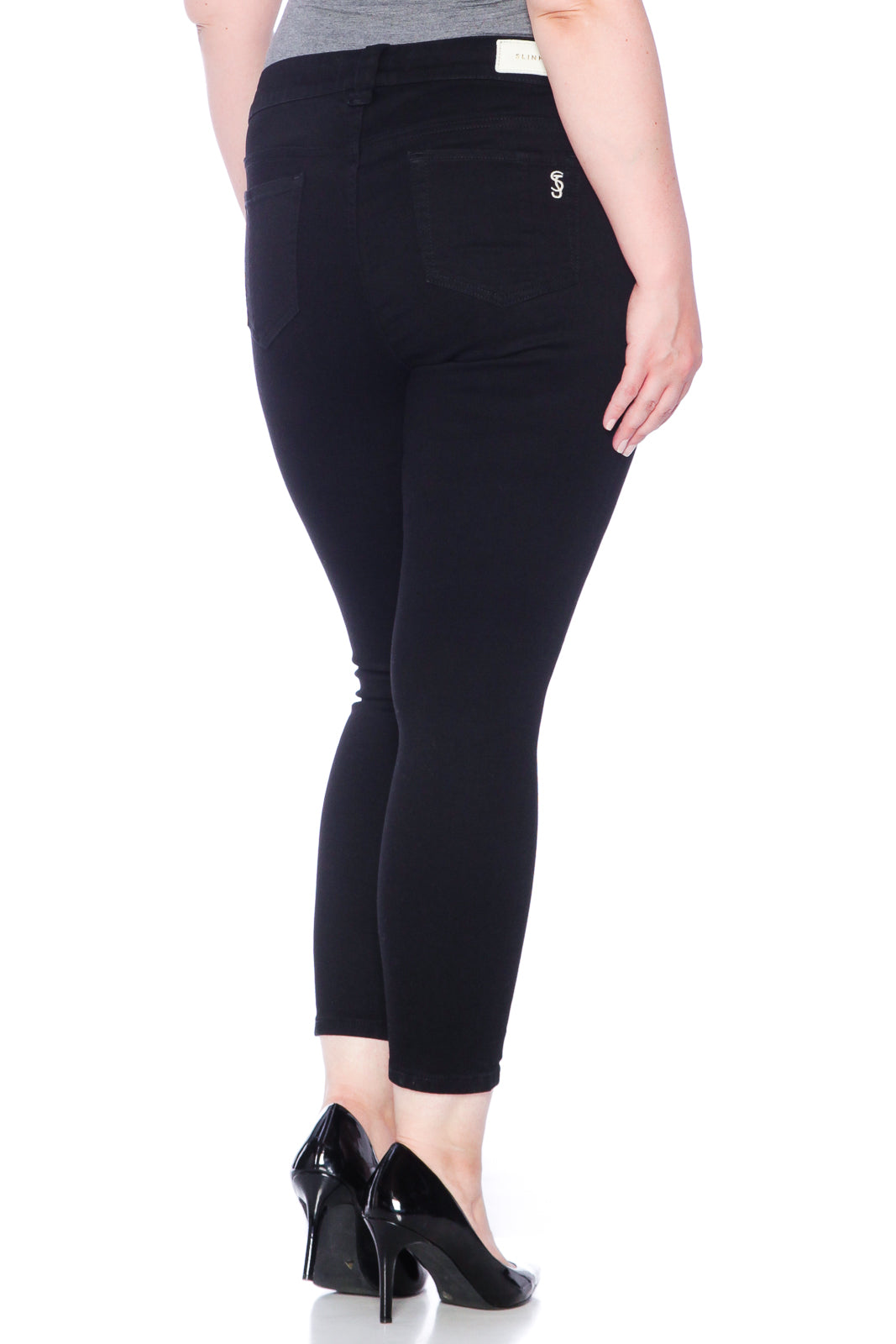 The High Waist Ankle Jegging - SOLID BLACK