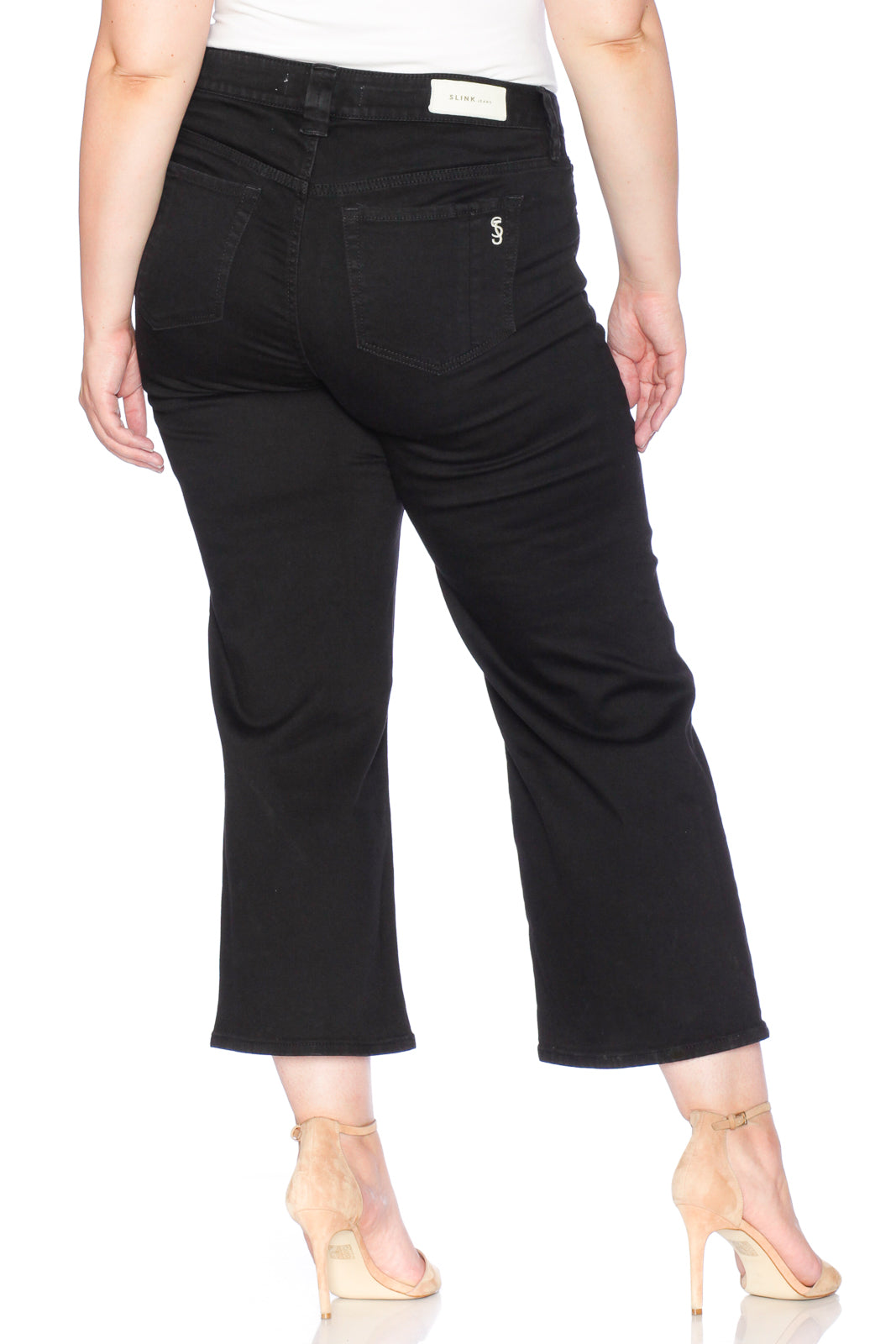 High Rise Wide Leg - SOLID BLACK