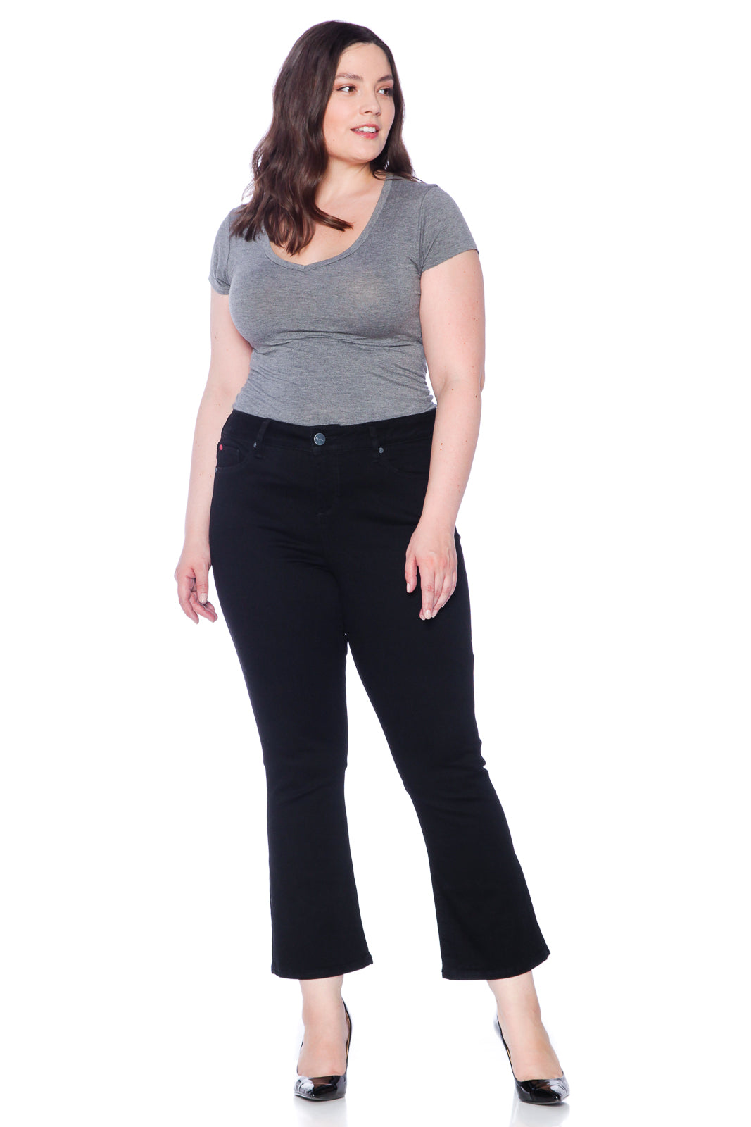 The High Waisted Flare - SOLID BLACK
