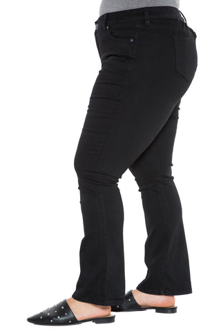 The Hi-Waist Bootcut - SOLID BLACK