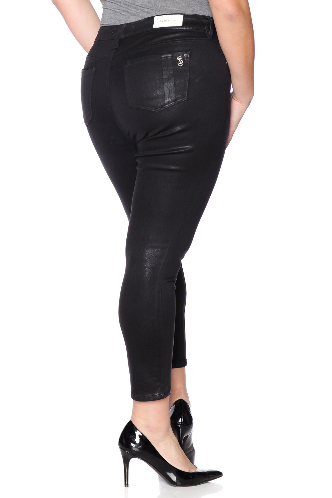 The Coated High Waist Skinny - ZOEY