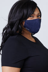 Cloth Mask - INDIGO BLUE / BLACK