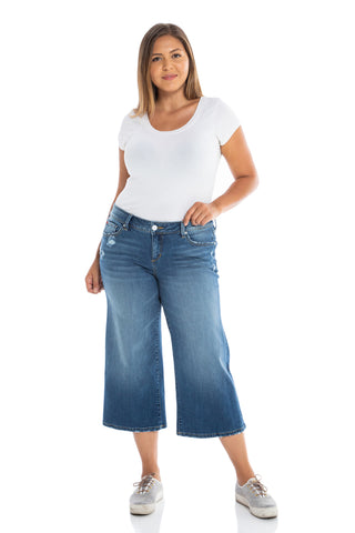 The Mid-Rise Wide Leg Crop - MAE