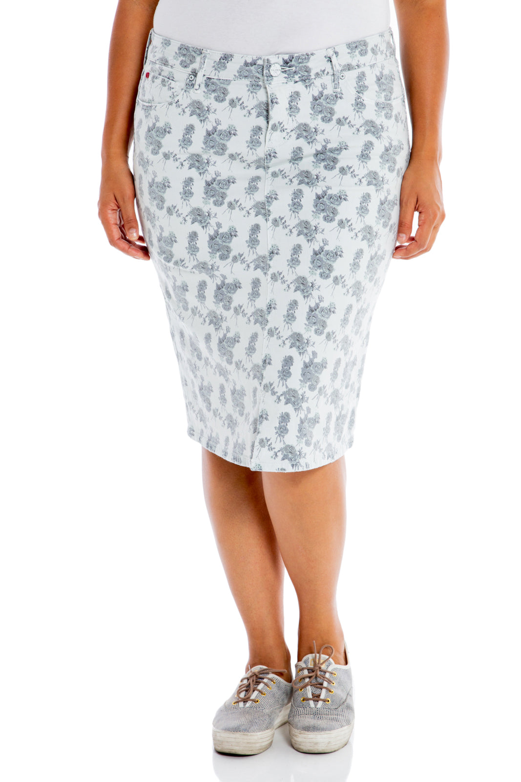 The Mid Rise Skirt - FLORAL ROSES