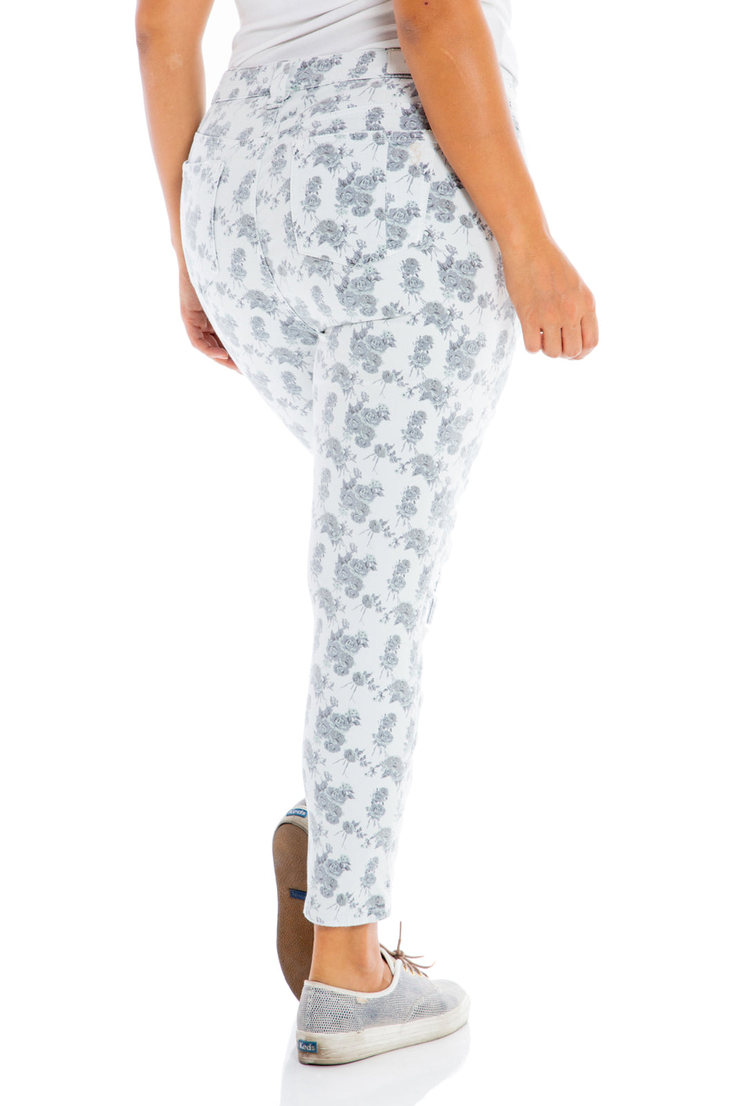 The High Rise Jegging - FLORAL ROSES