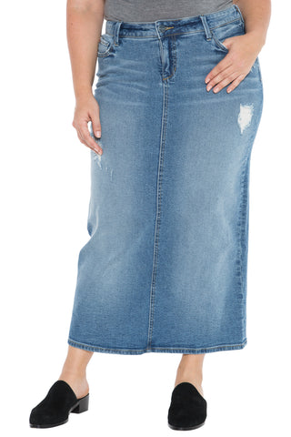 Long Denim Skirt - JACKIE