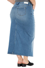 The Long Denim Skirt - JACKIE