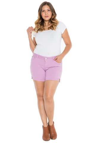 Side Vent Shorts - MAUVE MIST