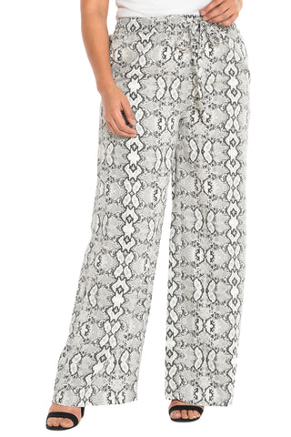 The Palazzo Pant - LIGHT GREY SNAKE