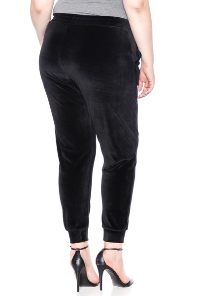 The Velour Jogger - JET BLACK