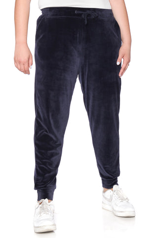 The Velour Jogger - NAVY