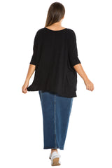 The Ribbed V-Neck - BLACK