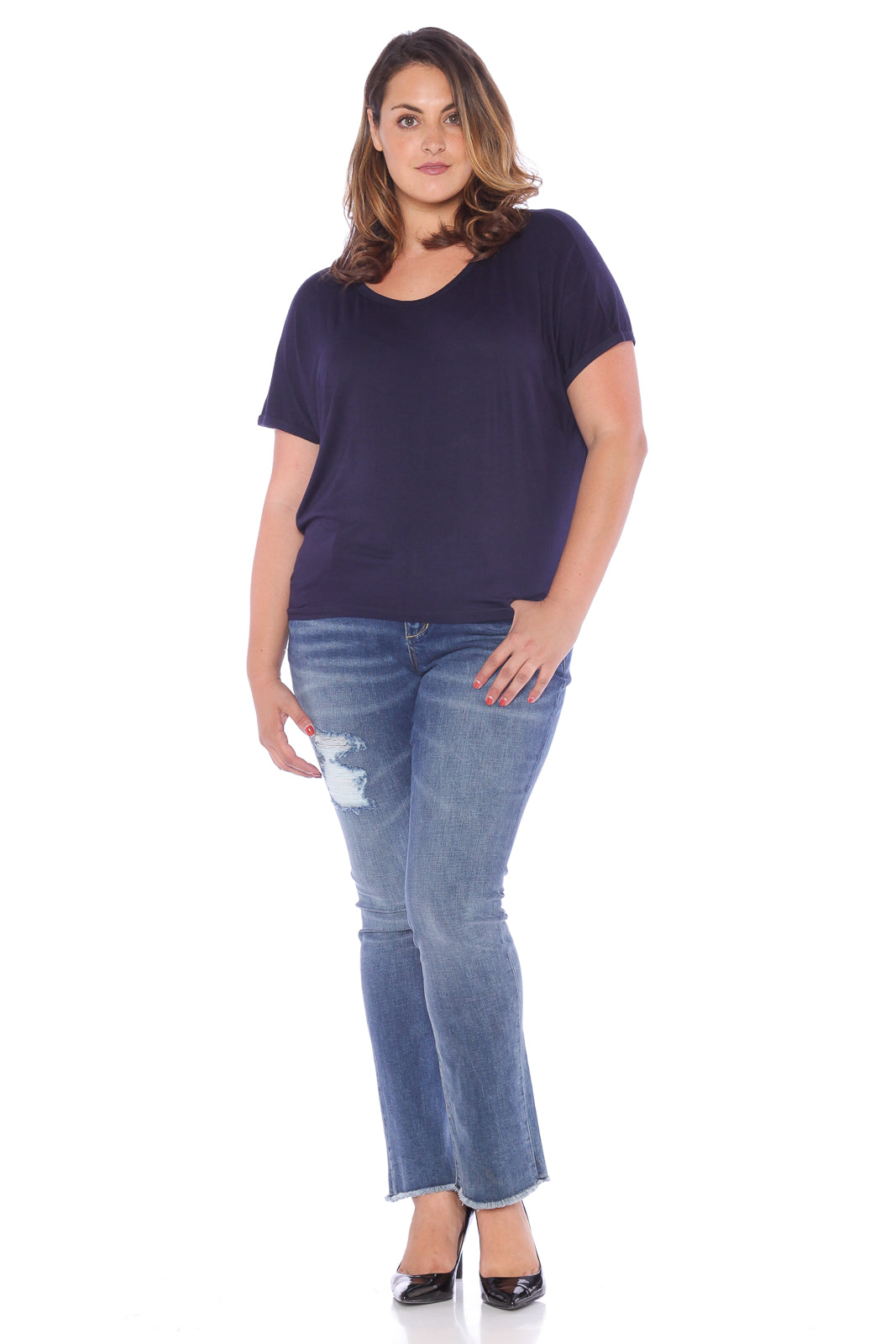 Back Draped Dolman - DARK NAVY