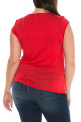 Draped Neckline Tee