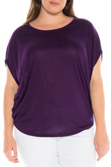 The Scoop Neck Dolman - EGGPLANT