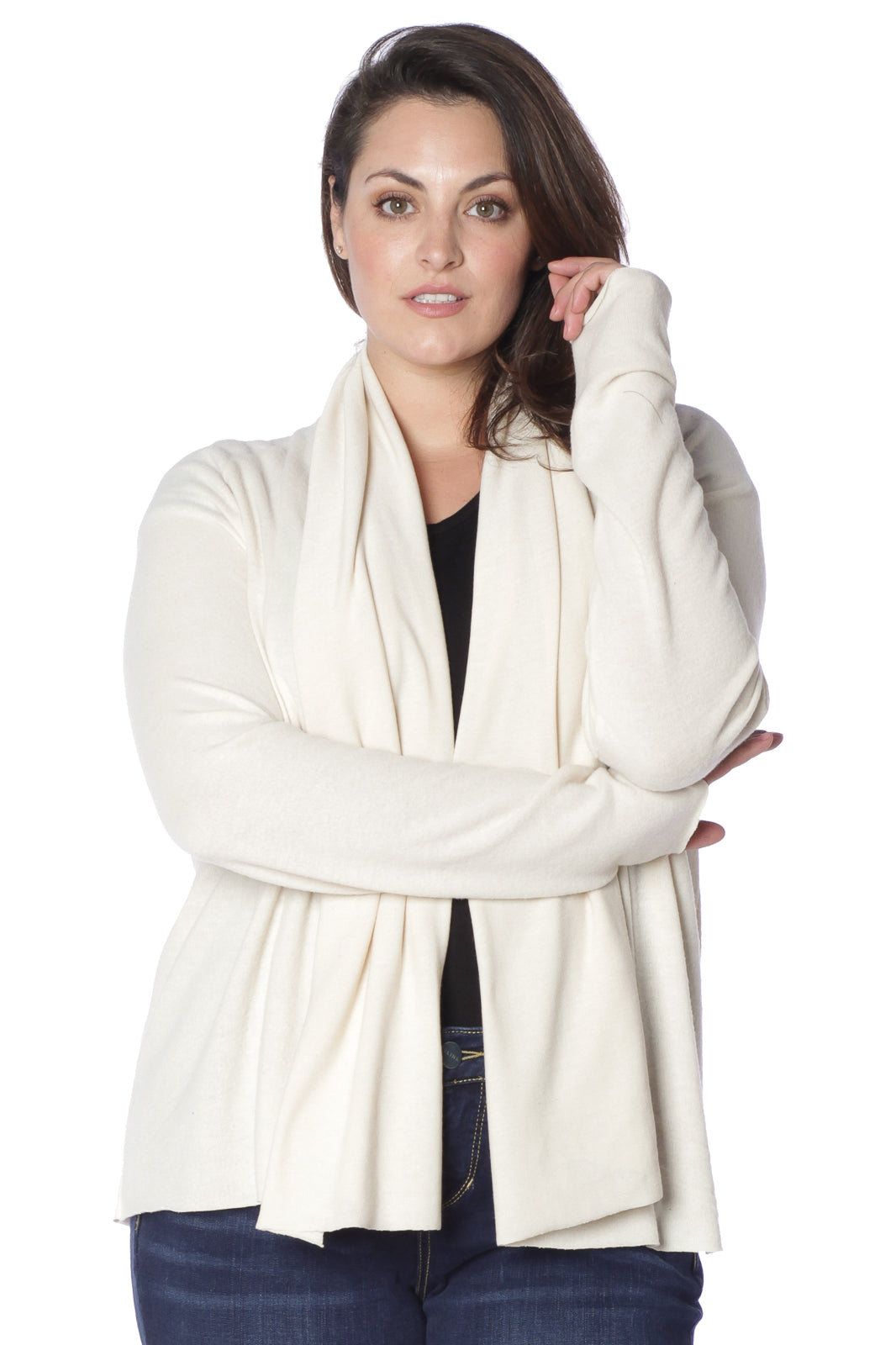 Drapped Open Cardigan