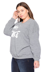 Not Fake Crewneck - HEATHER GREY