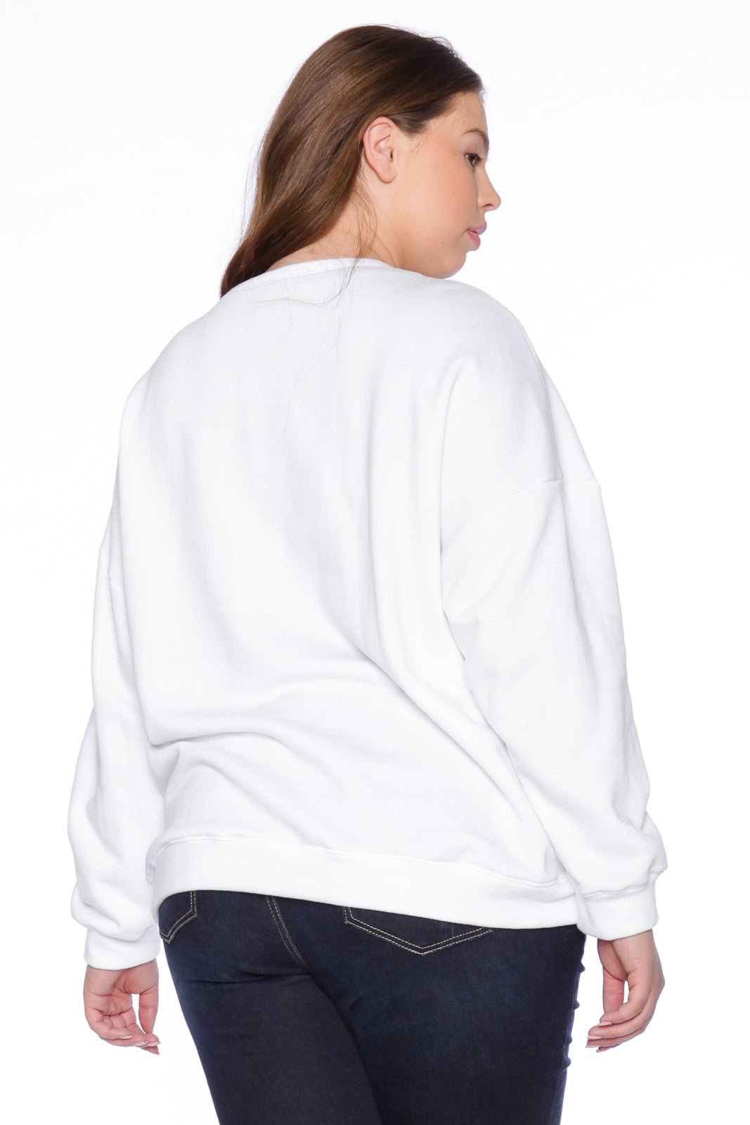 Not Fake Crewneck - WHITE