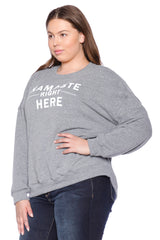 Namaste Crewneck - HEATHER GREY
