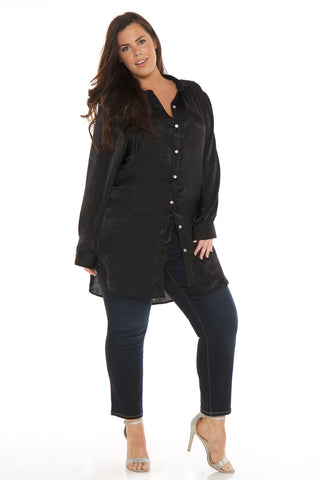 Silk Tunic - BLACK
