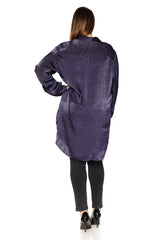Silk Tunic - NAVY