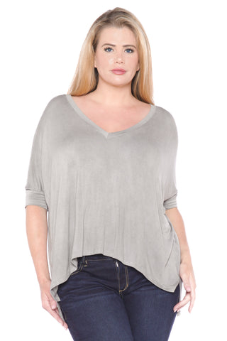 Distress V-Neck - GREYSTONE