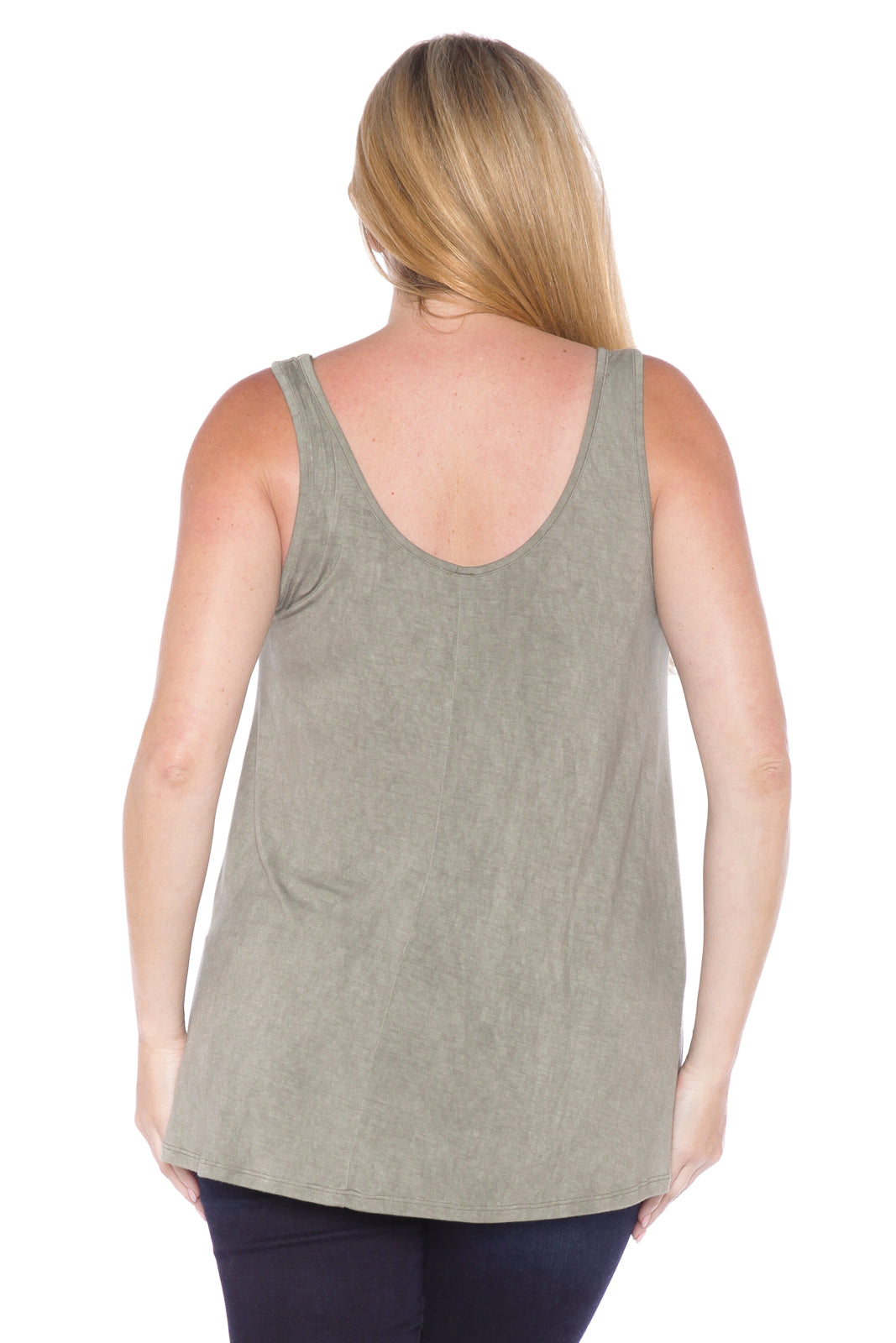 Distress Relaxed Tank - GREYSTONE