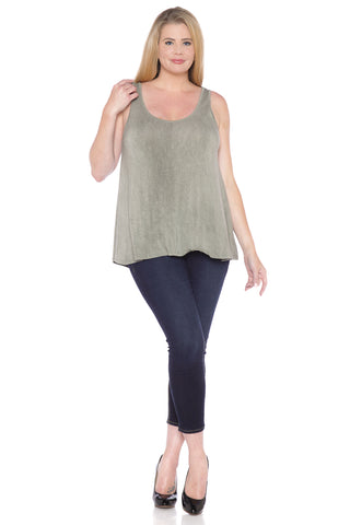 Distressed Relaxed Tank - GREYSTONE