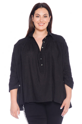 Babydoll Top - BLACK