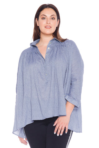 Babydoll Top - DENIM