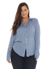Crinkled Shirt - CHAMBRAY