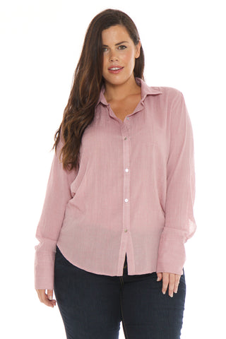 Crinkled Shirt - MAUVE