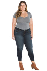 The High Waisted Ankle Slim Jegging - SUMMER
