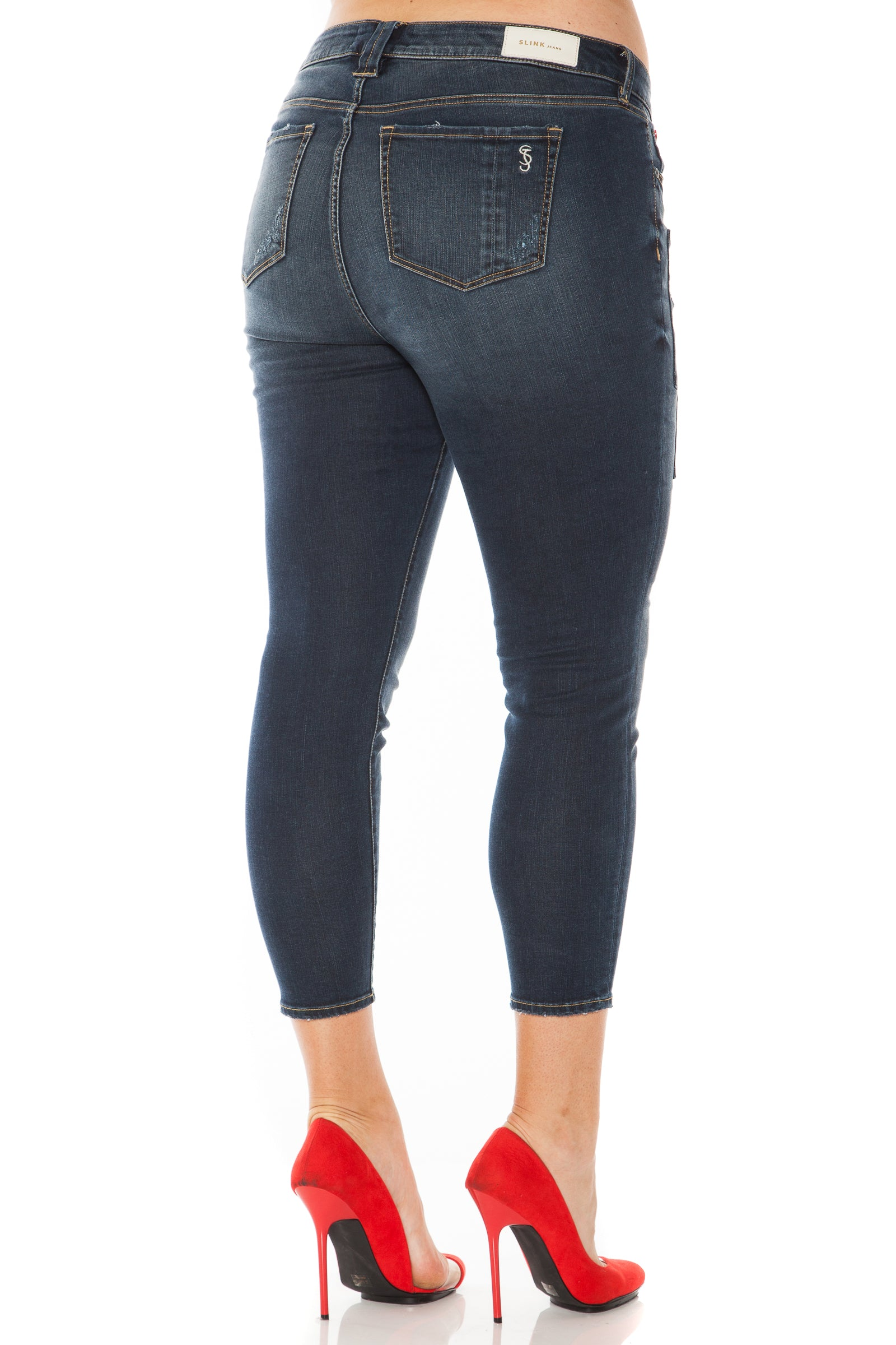 The Patchwork Ankle Jegging - TEAGAN