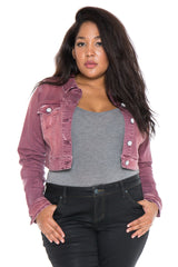 The Crop Denim Jacket - TAYLOR