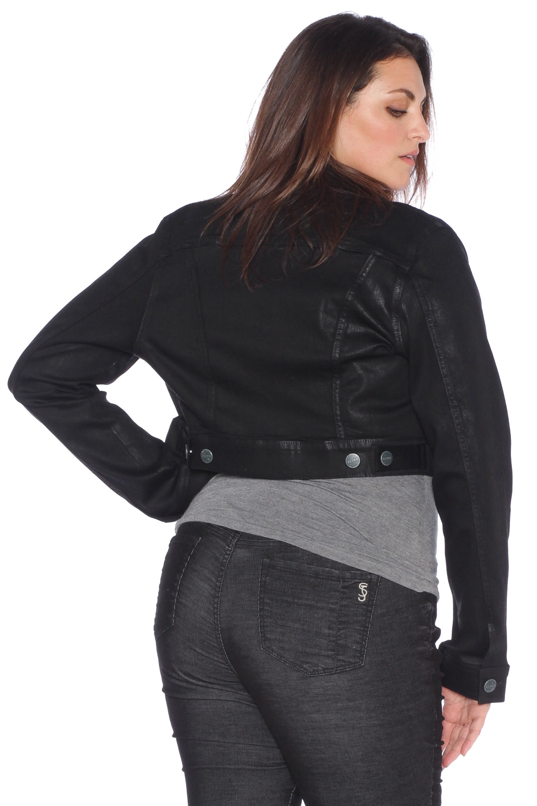 Coated Crop Jacket - NICOLE