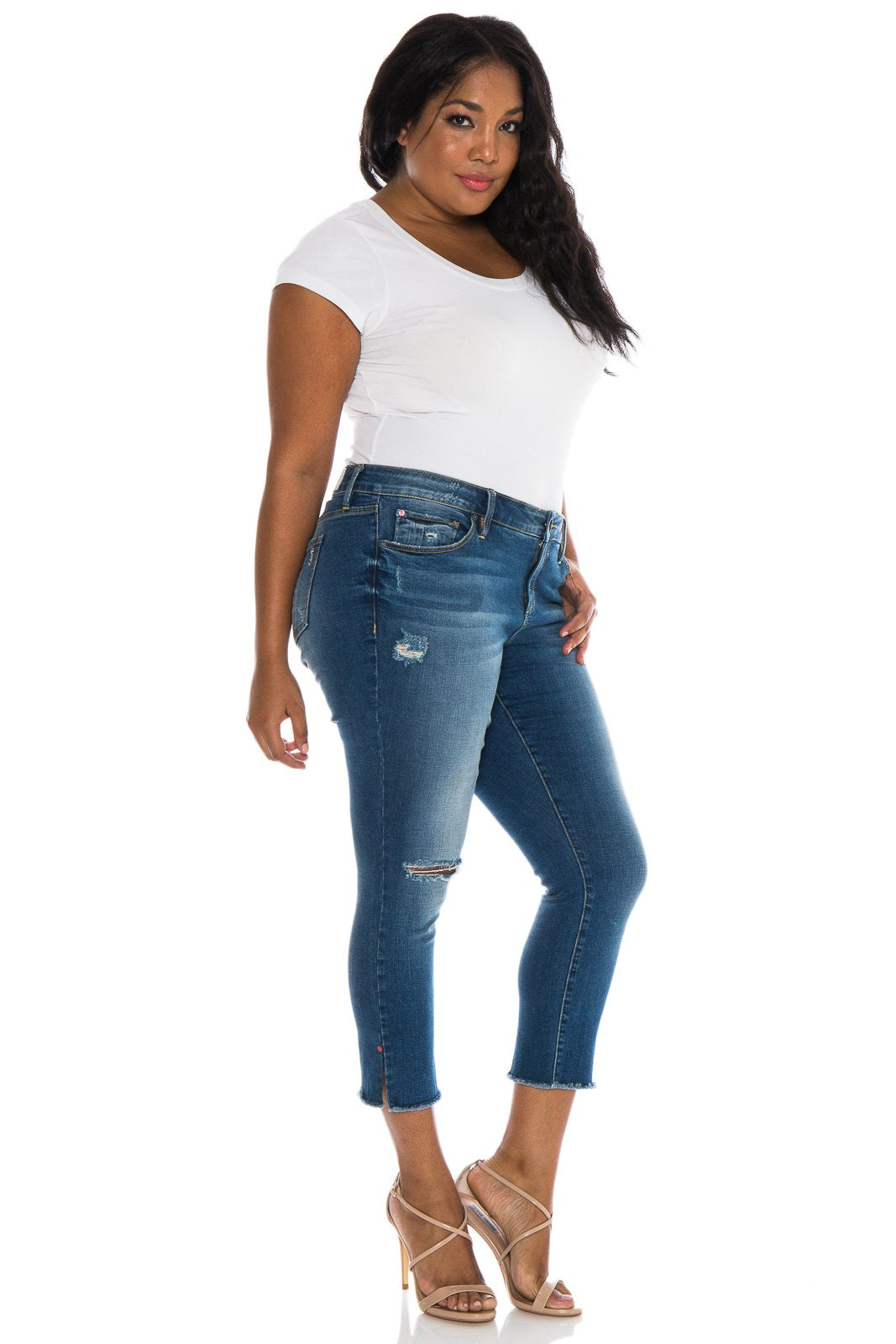 Frayed Hem Crop - CARALYN