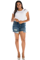 Shorts with Pattern Pockets - CARALYN