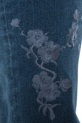 The Skinny With Floral Embroidery - PAIGE
