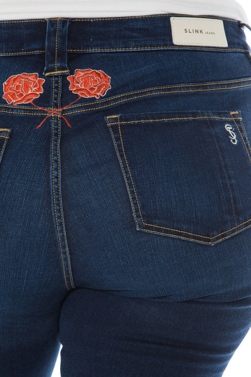 The Skinny With Rose Embroidery - ROSIE