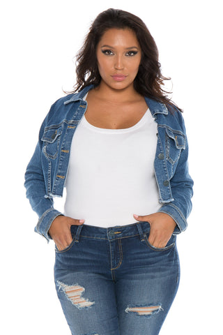 The Frayed Hem Crop Jacket - CRISTEN