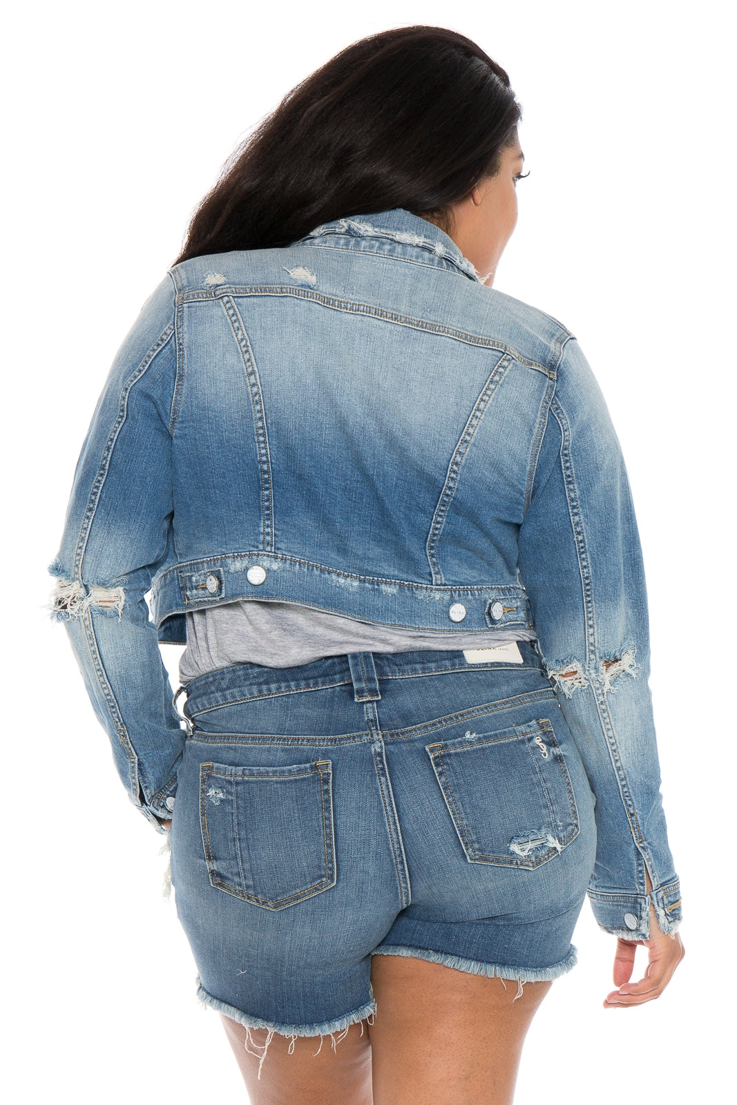 The Crop Denim Jacket - KEZIAH