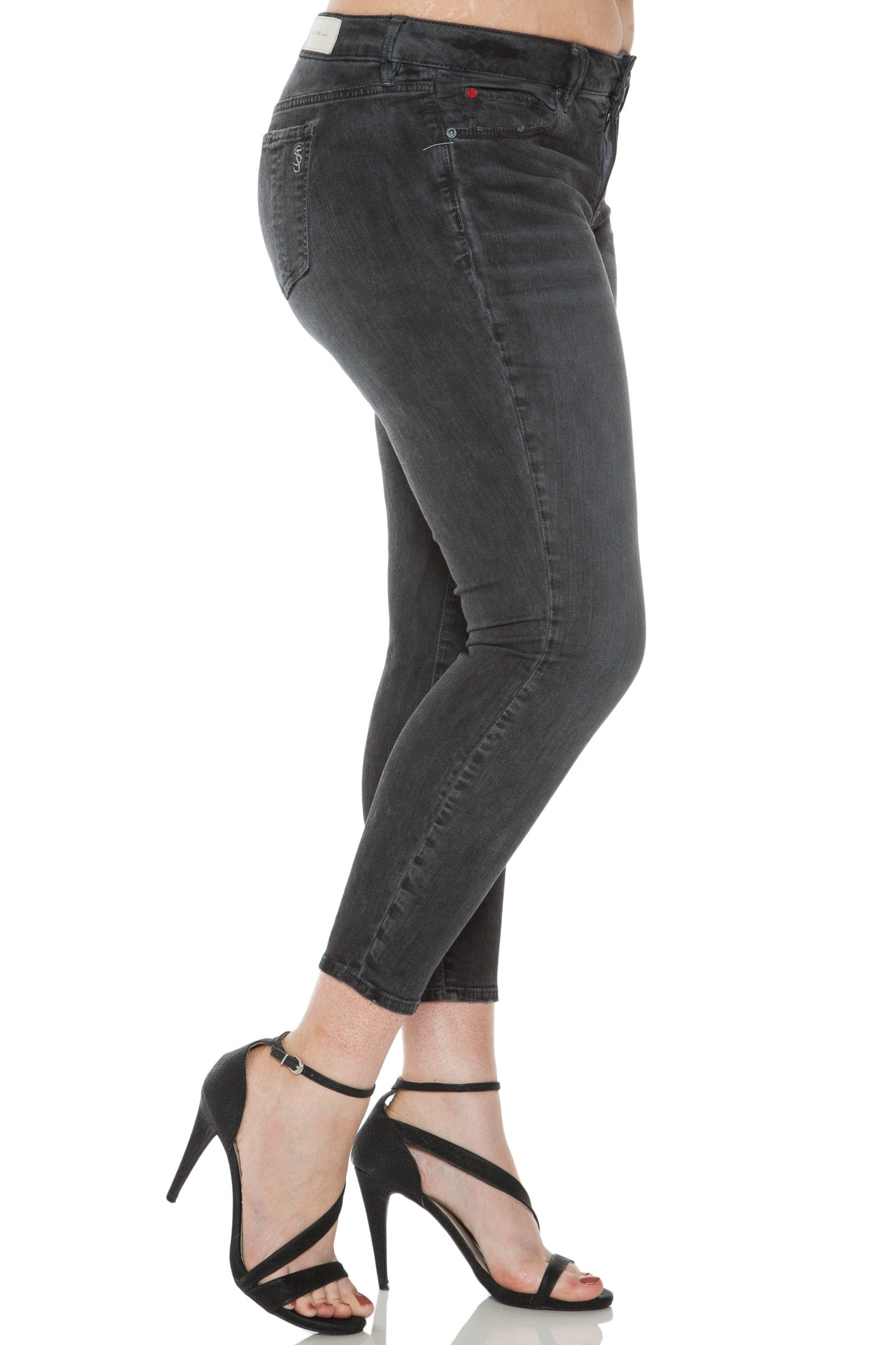 Ice Dye Ankle Jegging - AFTER DARK