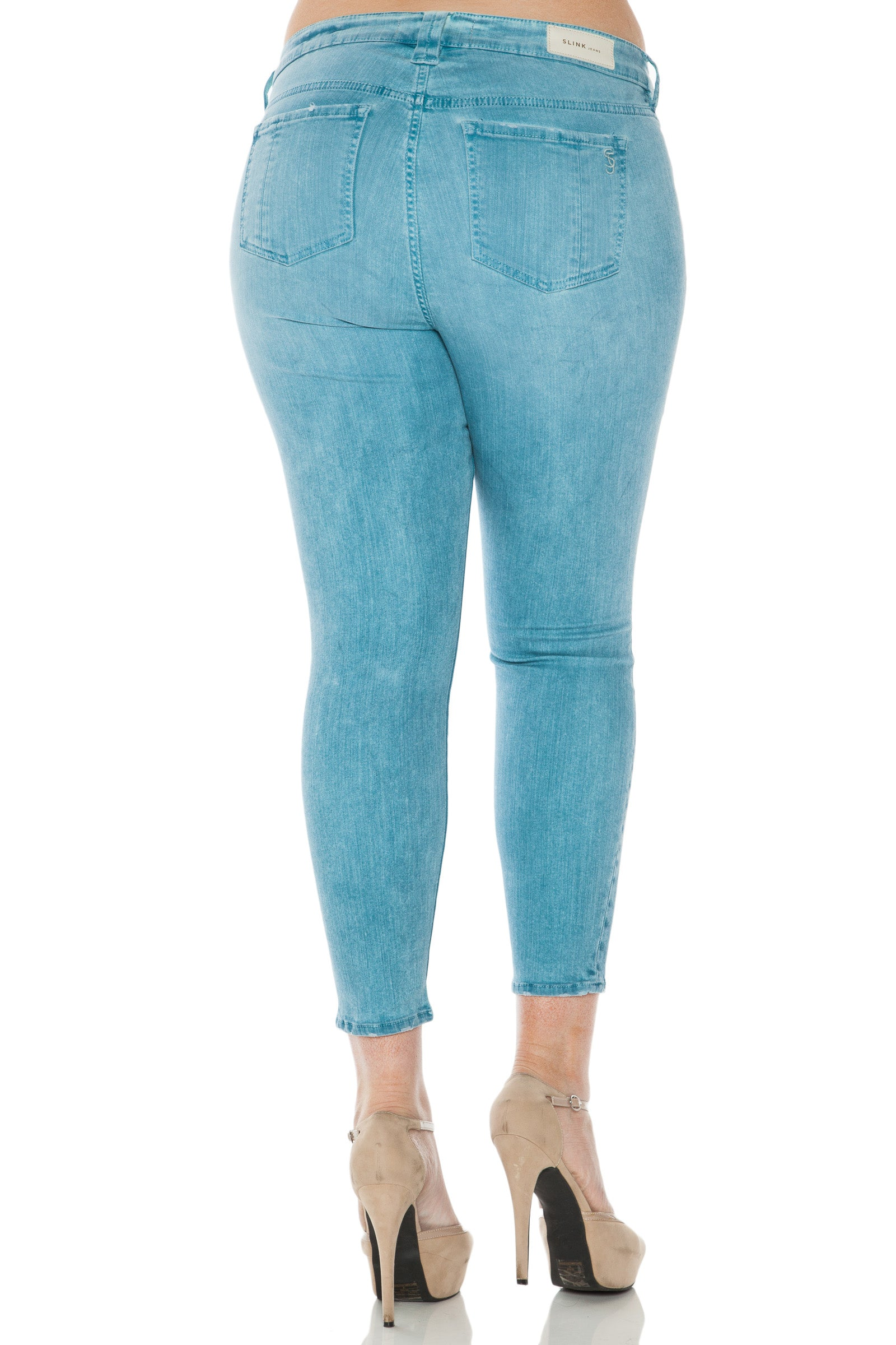 The Ice Dye Ankle Jegging - BLUE MIST