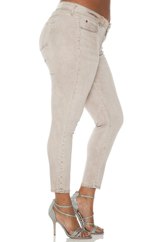 The Ice Dye Ankle Jegging - GREYSTONE